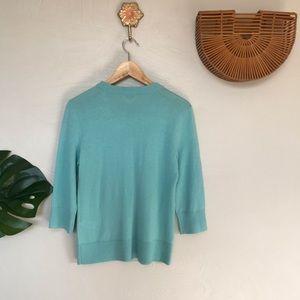 Kate Spade Sweaters - Kate Spade Living Colorfully Aqua Sweater, Large